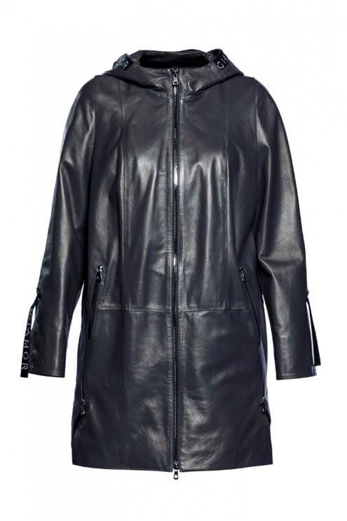 Kadın Deri Ceket Sedefli