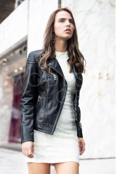Kadın Deri Ceket Siyah